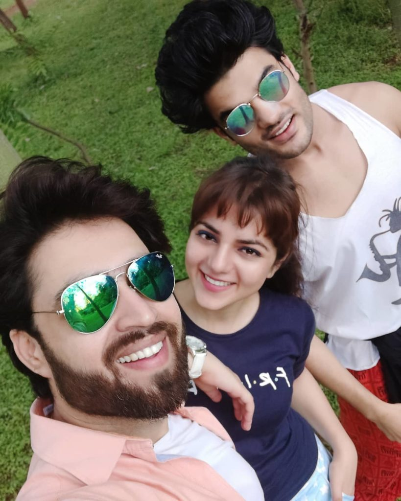 Abhishek with Friends Neha Bagga Resty Kamboj