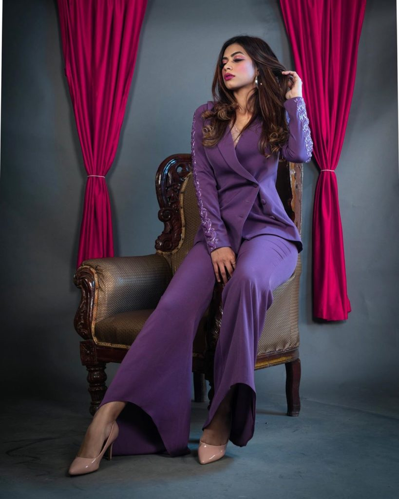 agma mirajkar tik tok star fashion blogger in beautiful dress