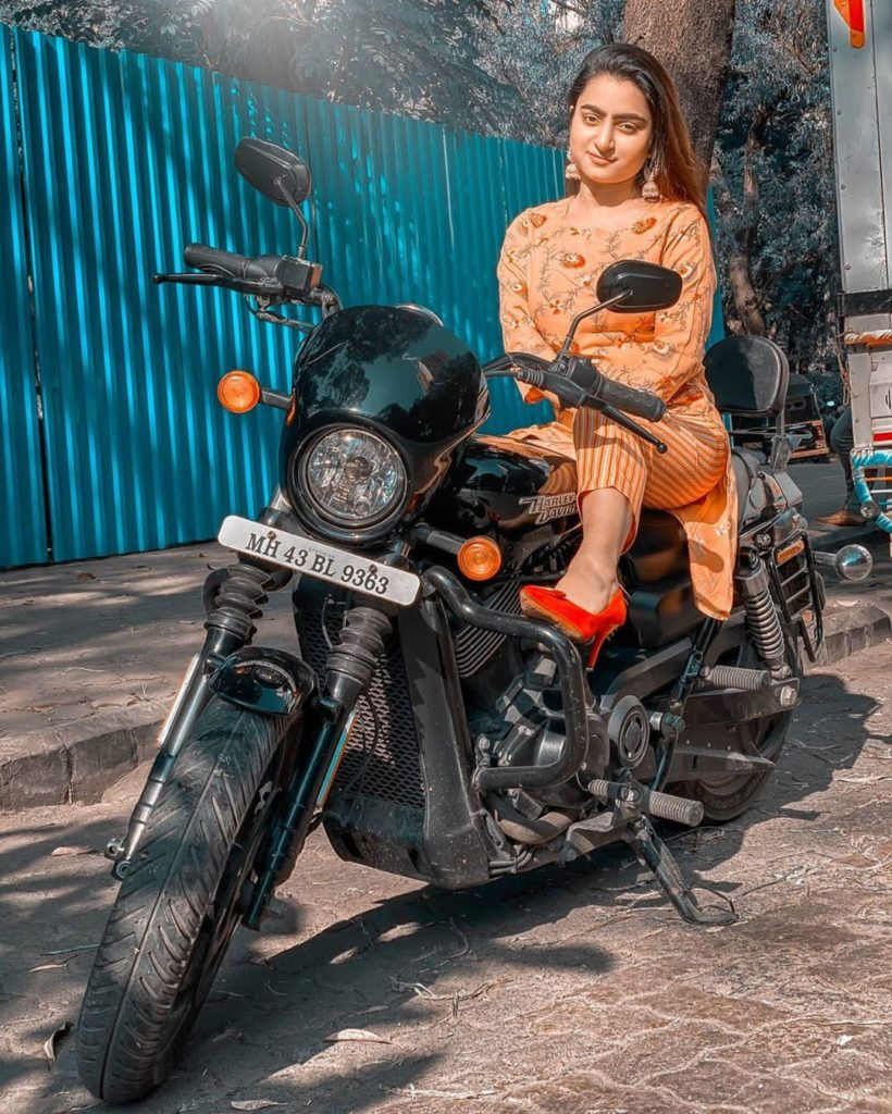 Aliya Ojha Photoshoot with Bike