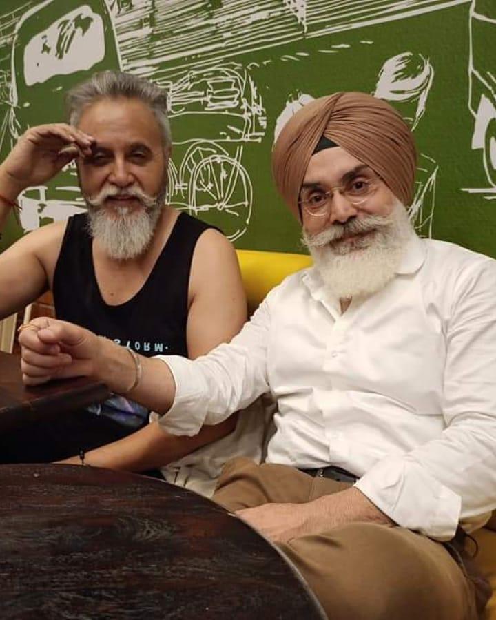 Jagjit Sabharwal with Friend Dinesh Mohan