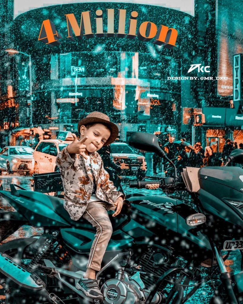 Sadim Khan on Bike
