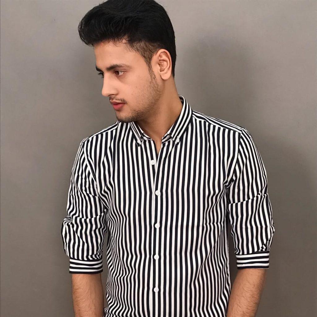 TikTok star Toofan Singh in Striped Shirt